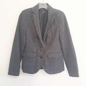 Tommy Hilfiger Houndstooth Black & Grey Blazer
